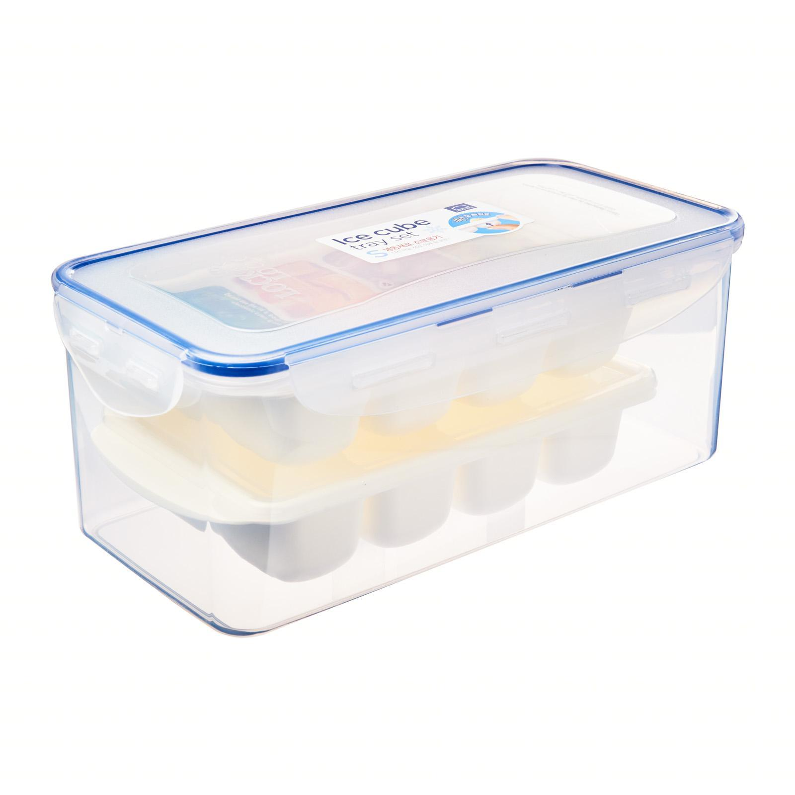 Lock and Lock Ice Cube Tray Set L (2 X Ice Cube Tray L + 3.4L Container)