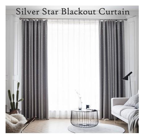 Blackout Curtain upto 80% - Measurement 130cm by 180cm) - Hook Type