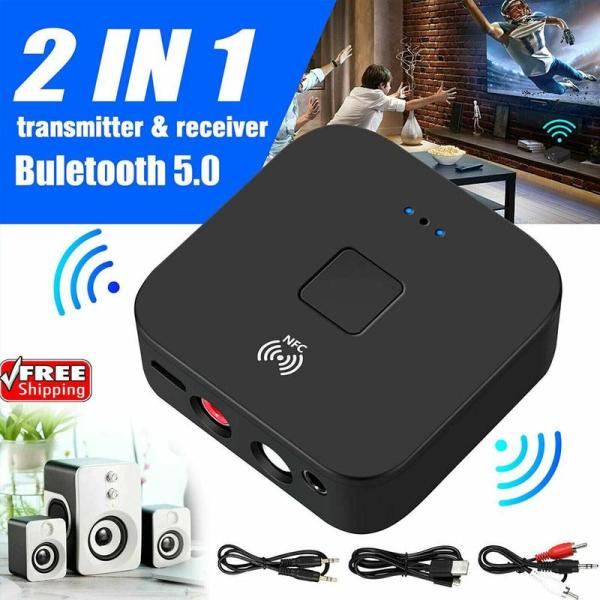 Greo Bluetooth Rca Receiver 5.0 Aptx Ll Aac 3.5Mm 3.5 Car Music Nfc Jack Aux Microphone For Tv Adapter Wireless With Audio Speaker Stereo E4N6
