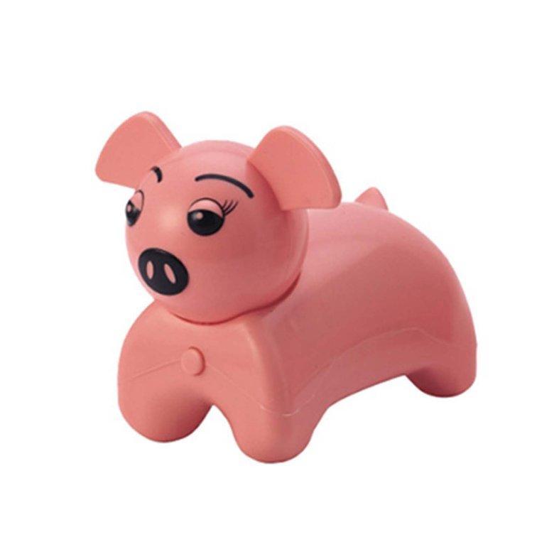HORI Cute Cartoon Pig Massager Mini Portable Body Massage Device Birthday Gift