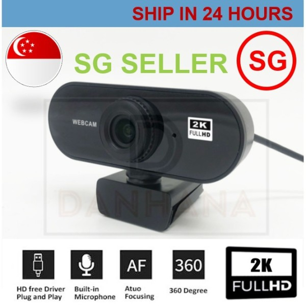 2K Full HD Webcam Mini Computer PC Web Camera Microphone Rotatable Cameras Live Video Call
