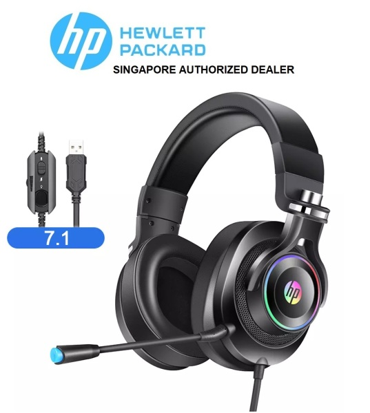 HP 7.1 Professional Gaming Stereo Headphone With Mic/Noise Isolation RGB Light For PC/Laptop (H500GS)
