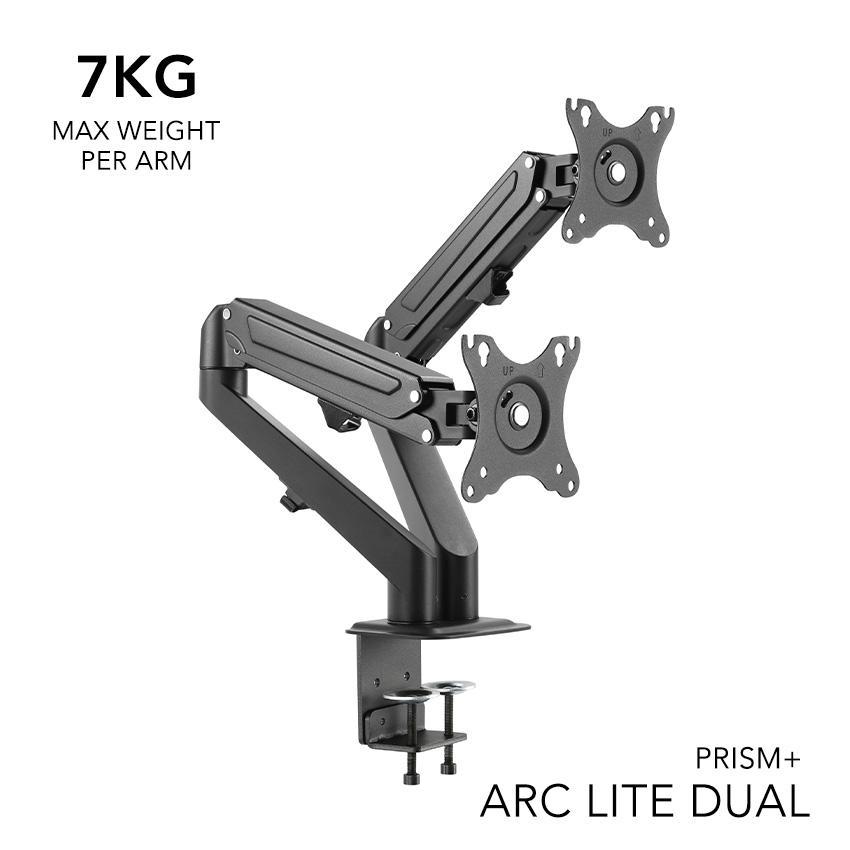 PRISM+ ARC LITE Dual Monitor VESA Monitor Arm