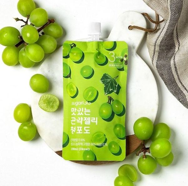 Buy Sugarlolo Konjac Green Grape Jelly - 10 packs X 150ml (Diet / Zero Sugar / Low Calorie / Kfood) Singapore