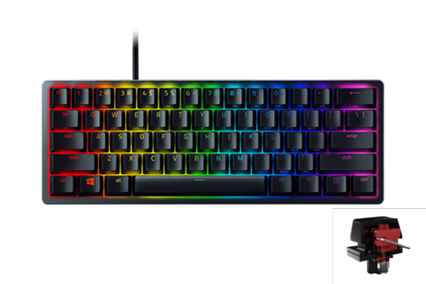 Razer Huntsman Mini (RED SWITCH) 60% Opto-Mechanical Gaming Keyboard Singapore