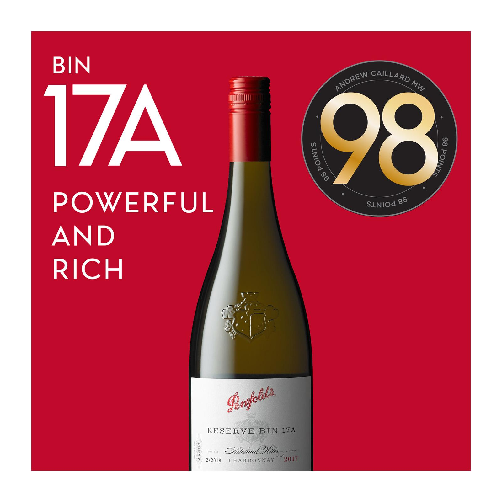 Penfolds Reserve Bin 17A Chardonnay 2017 Wine Bottle