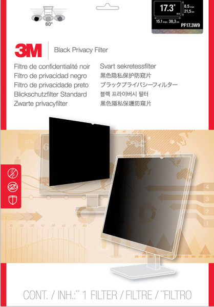 【PROMO】3M PF17.3W9 Privacy Filter for 17.3 INCH Widescreen Laptop or Desktop LCD Monitor ( Filter Dimension 215.4mm x 382.6mm )
