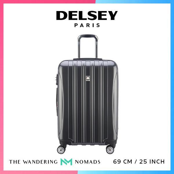 Delsey Helium Aero 69cm 4 Double Wheels Expandable Trolley Case Luggage 25inch - Metallic Grey