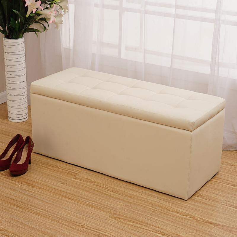 Womens Dress Storage Stool Hallway Clothing Store Sofa Stool Bench Shoe Store Footstool Strip Entrance Storage Stool Simplicity