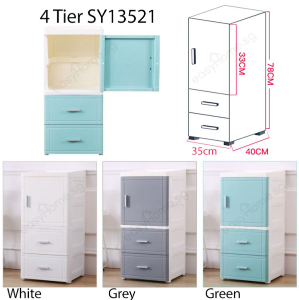 Slim Storage Cabinet / Plastic Drawer / Kitchen Bathroom Shelves Organizer