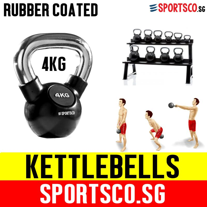 Sportsco 4kg Rubber Coated Kettlebell (sg) By Sportsco Singapore.