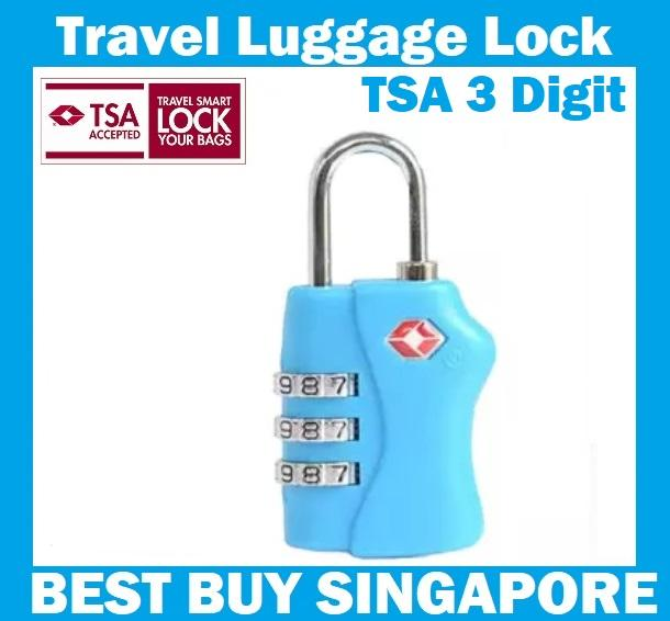 Tsa Lock Approved 3 Combination Travel Baggage Suitcase Luggage Padlock -Blue 3 Digit By Best Buys.