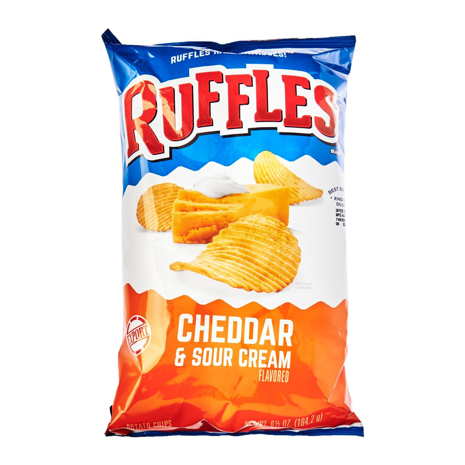 Ruffles Cheddar And Sour Cream Potato Chips