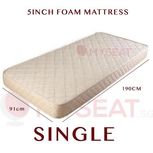 MYSEAT.sg FOAM Mattress In Single / Super Single / Queen