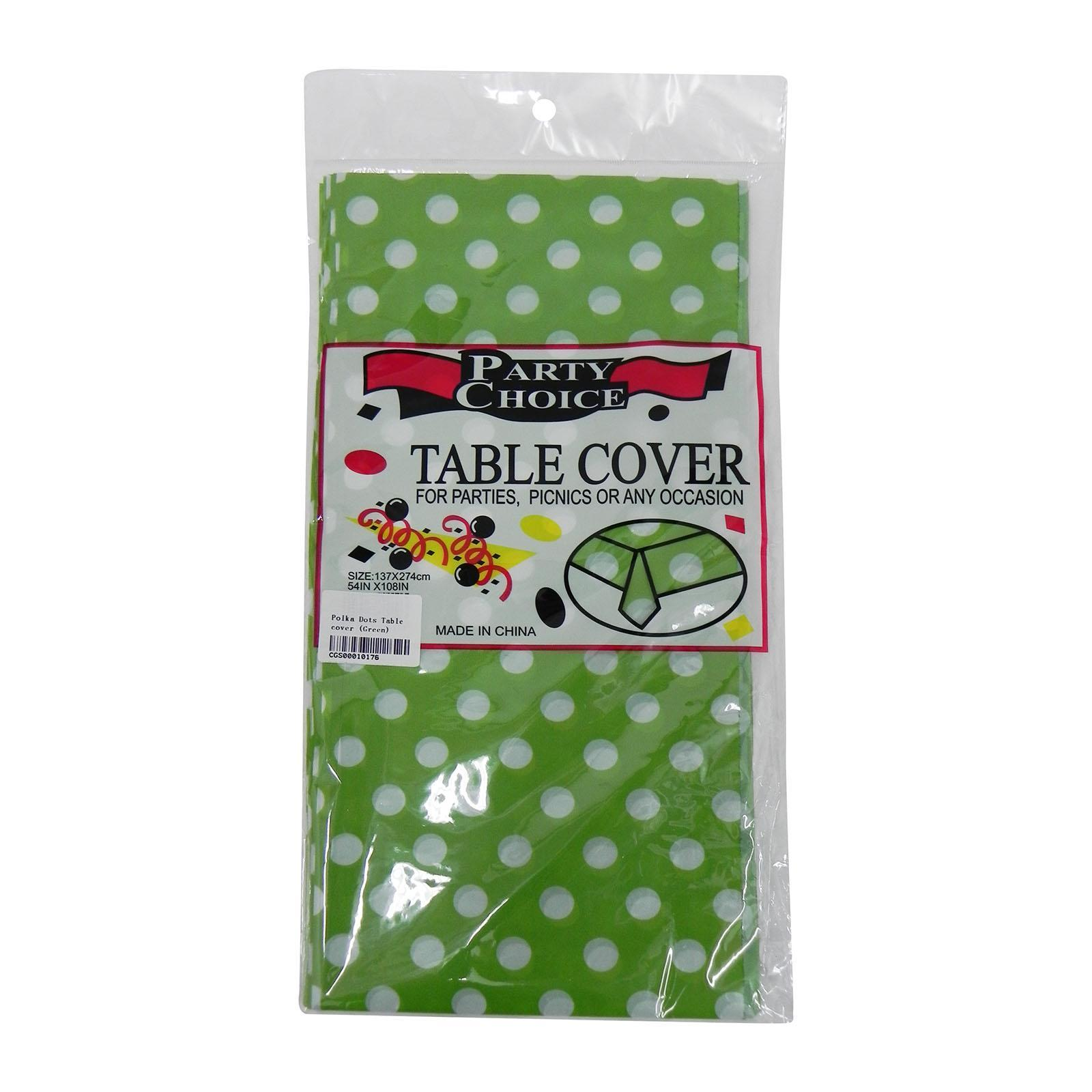 CGS Polka Dots Tablecover (Green)