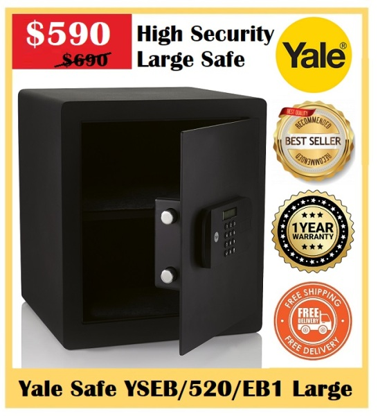 Yale YSEB/520/EB1 - High Security Large Safe ~ 100% Brand New ~ 2020 Latest Model ~ The Worlds Favourite Lock