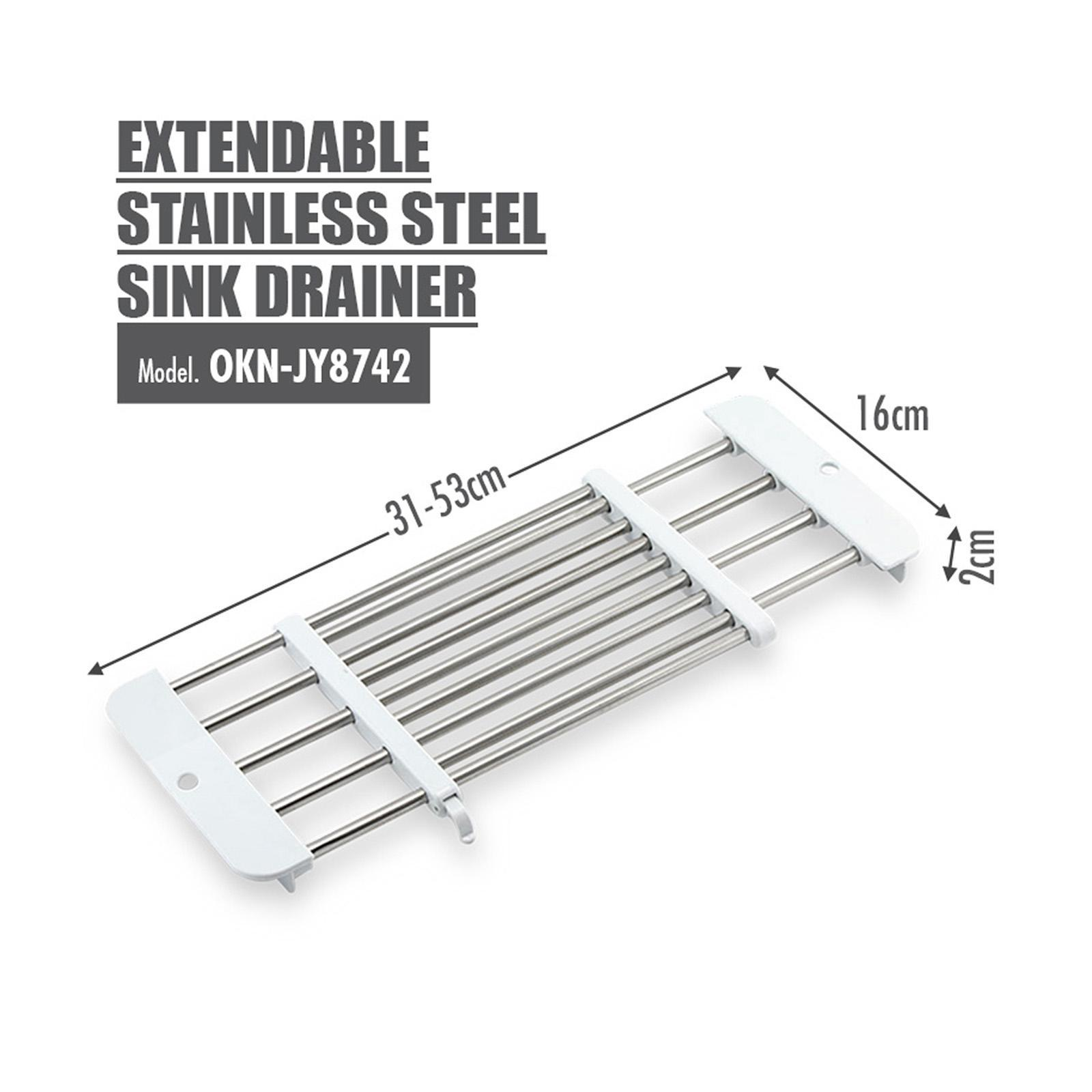 HOUZE Extendable Stainless Steel Sink Drainer