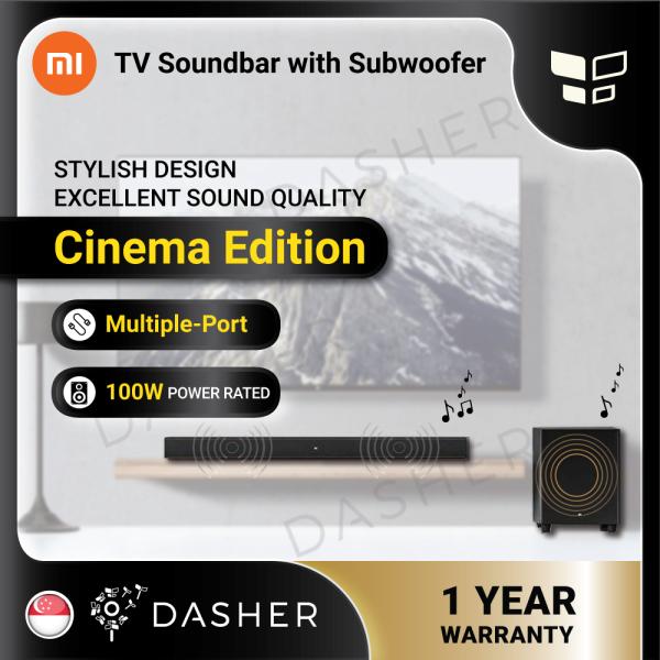【NEW】Xiaomi TV SoundBar Cinema Edition  Bluetooth Speaker Subwoofer Home Theater 100W Strong Bass Sound bar Singapore