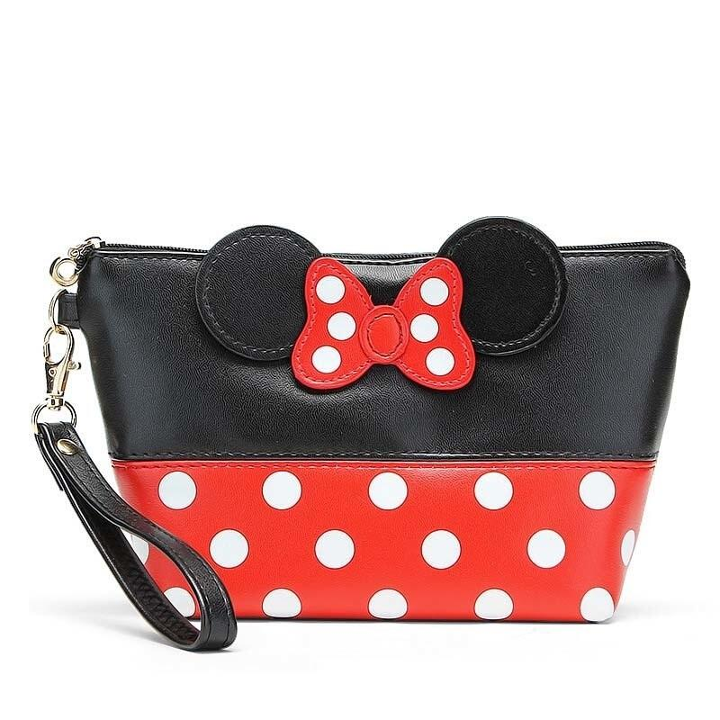 ★NEW ARRIVAL★ Minnie Make Up Pouch Money Bag  Hand phone Pouch  Wrist Pouch  Coin Pouch  Bag / Wristlet Japan Style  [MB10] Best Christmas Gift