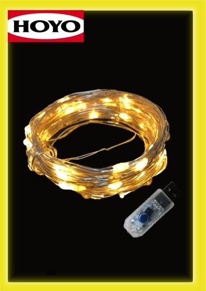 10 Meters 8 Lighting Modes USB LED Dazzle / String Fairy Light For Christmas Party Decoration -Warm White