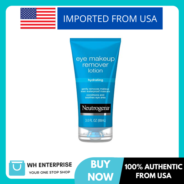 Buy Neutrogena Hydrating Eye Makeup Remover Lotion, Gentle Daily Makeup Remover with Skin-Soothing Aloe and Cucumber Extracts to Remove Even Waterproof Mascara, Fragrance-Free, 3 oz Singapore