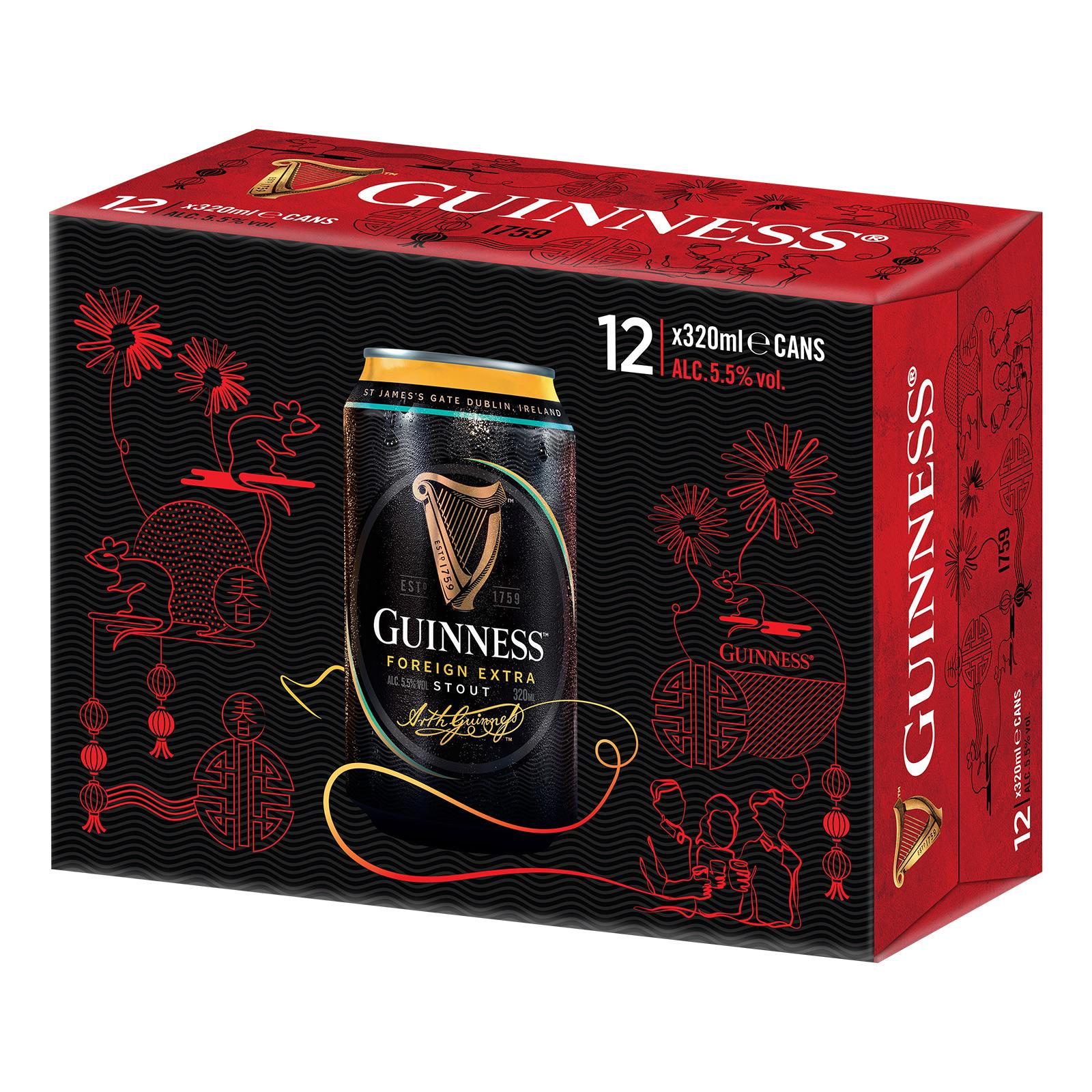 Guinness Foreign Extra Stout 12 x 320ml [CNY Edition]