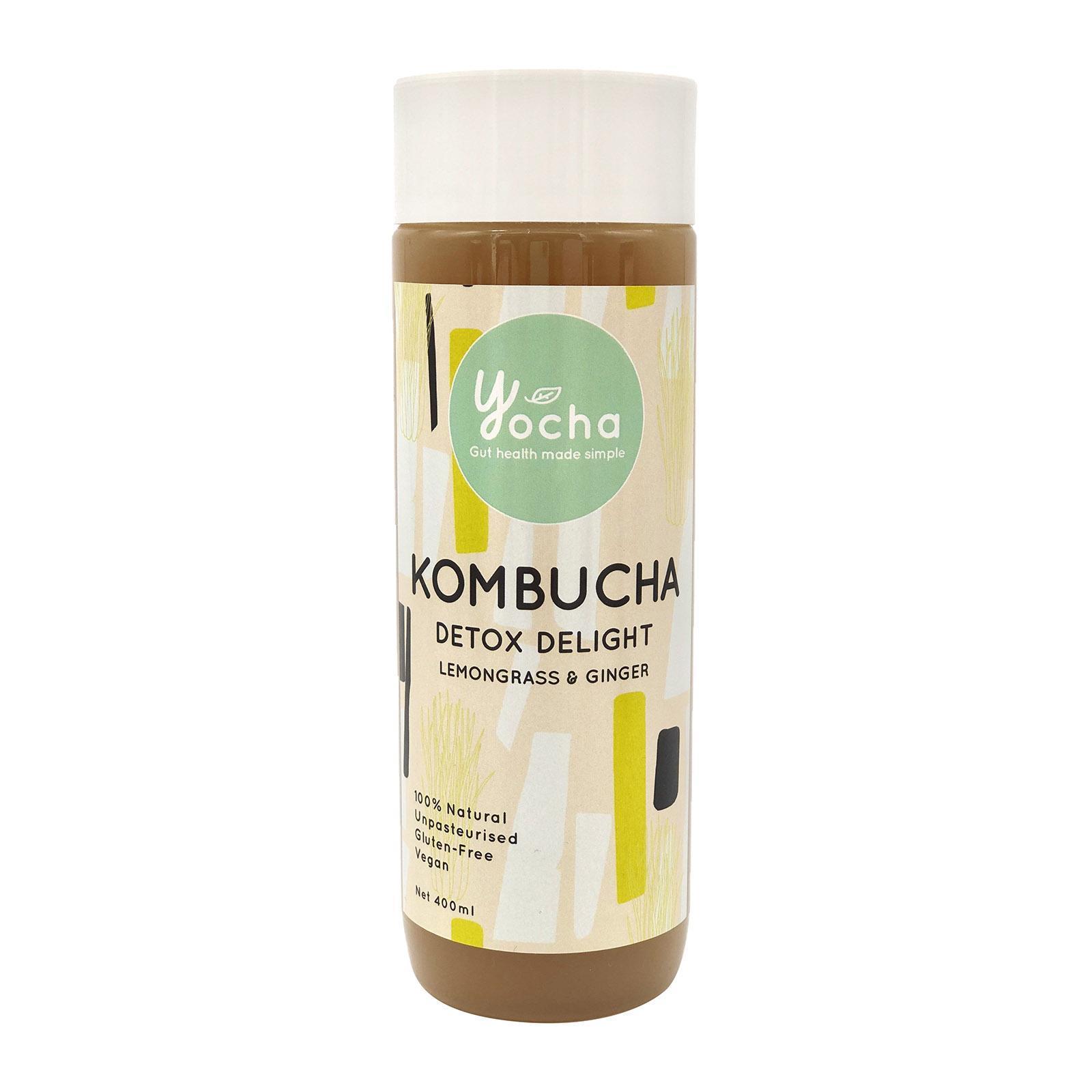 Yocha Kombucha Detox Delight - Ginger and Lemongrass