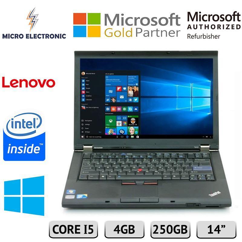 Lenovo Thinkpad T410 Business Laptop 14 Intel Core 4GB 250GB HDD Windows 10 Refurbished PC Computer Digital Electronics