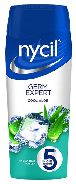 Buy Nycil Germ Expert Cool Aloe Prickly Heat Powder, 150g- 5 In One Benefits Singapore