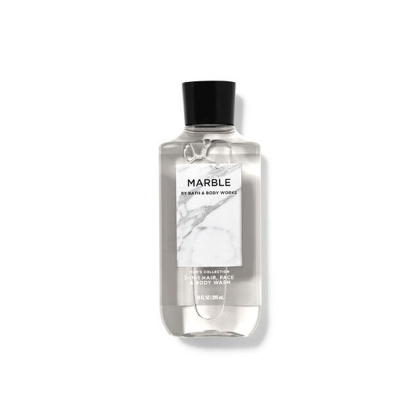 Buy Bath & Body Works : MENS COLLECTION : Marble 3-in-1 Hair, Face and Body Wash - 295ml - Bath and Bodyworks - BBW Singapore