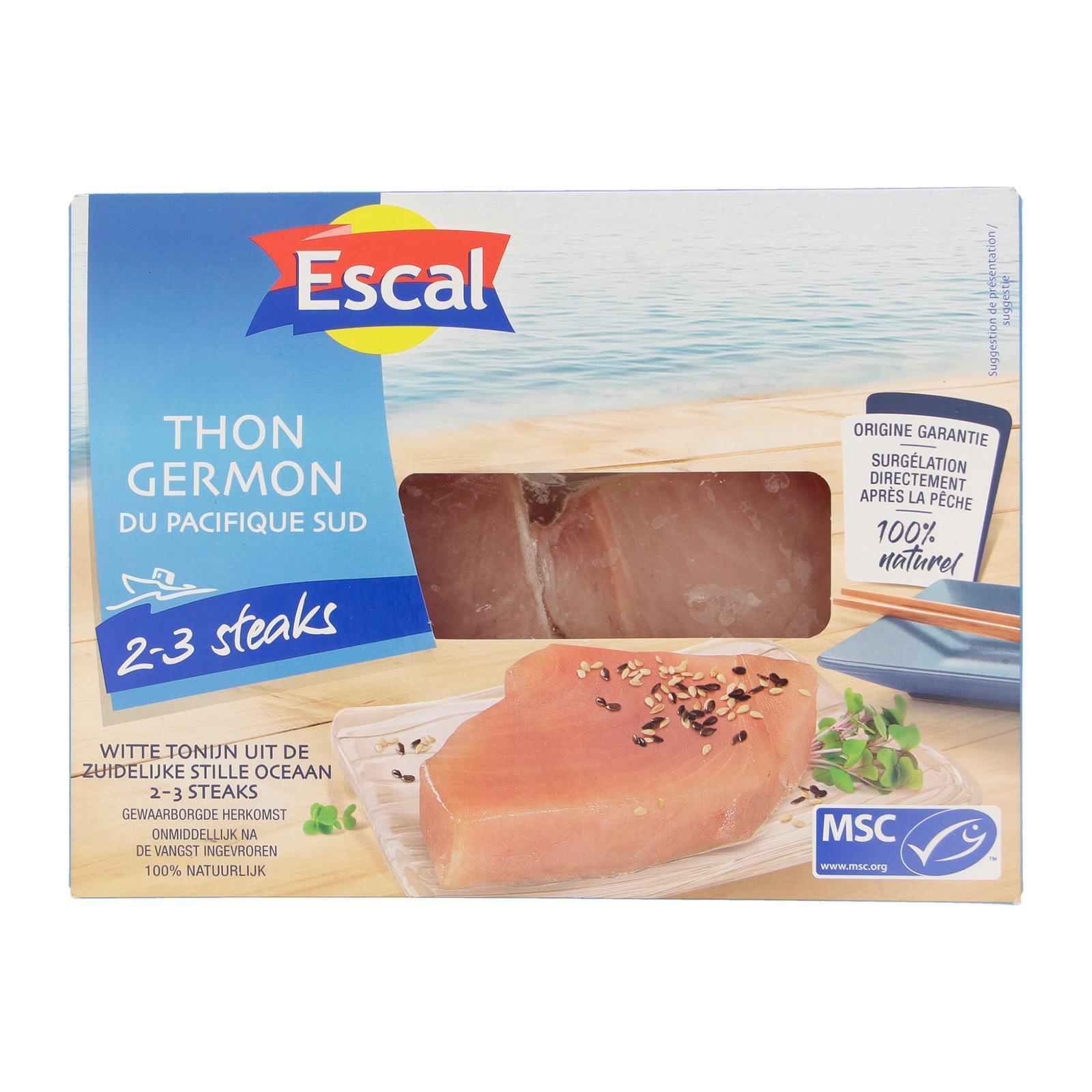 Escal Fidji/Cook Islands Tuna Steak Skinless (Msc) 2-3'S x Appx 83-125G - By Culina - Frozen