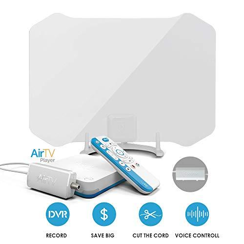 Antop Antenna Airtv Player Dual-Tuner Local Channel Streamer With Sling, Google Play & Netflix Integration, Work With Antop Amplified 360° Hdtv Antenna For A Perfect Cord Cutting Solution, Support Dvr&voice Control.