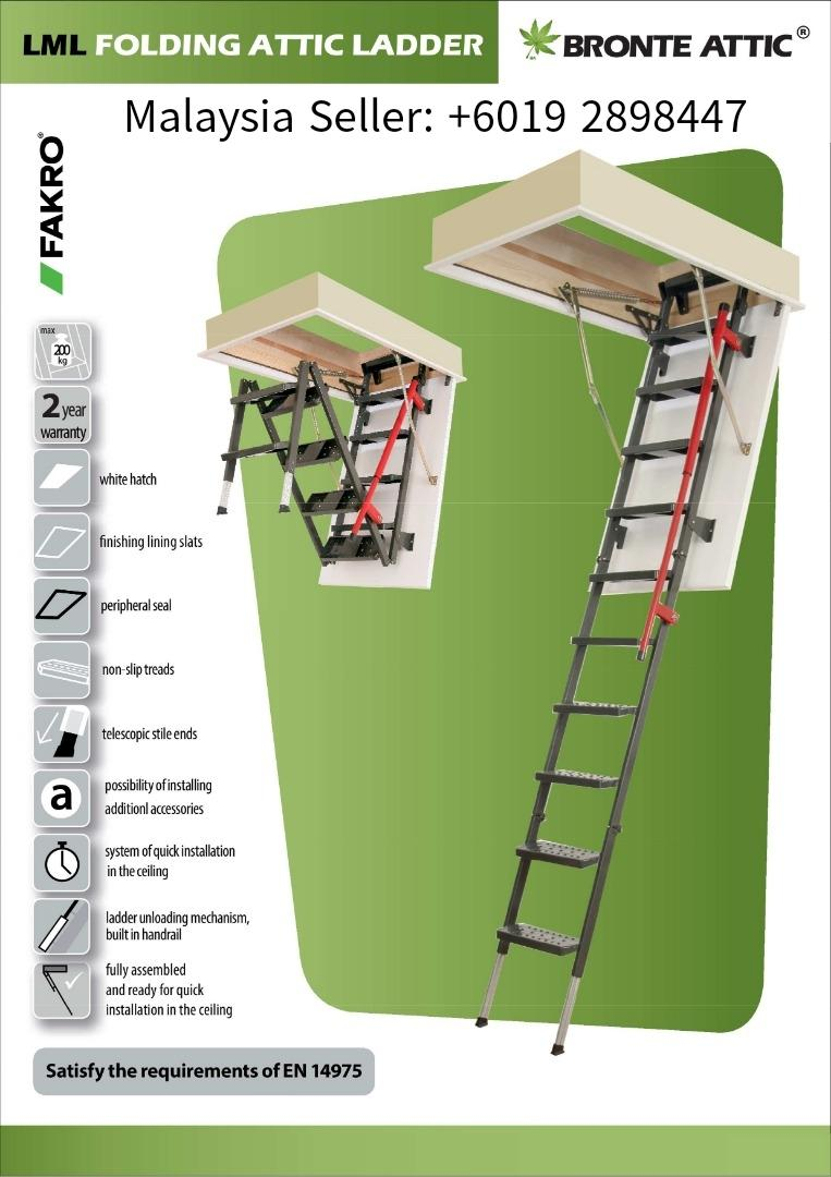 Fakro LML Metal Folding Attic Ladder