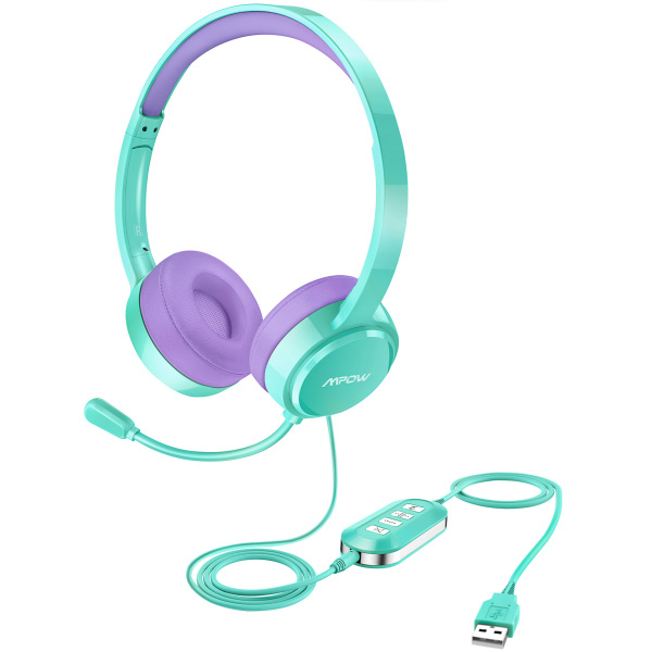 Mpow 071 Home Study / Office USB Headset/3.5mm Computer Headset with Microphone Noise Cancelling, Lightweight PC Headset Wired Headphones, Business Headset for Skype, Webinar, Phone, Call Center Singapore