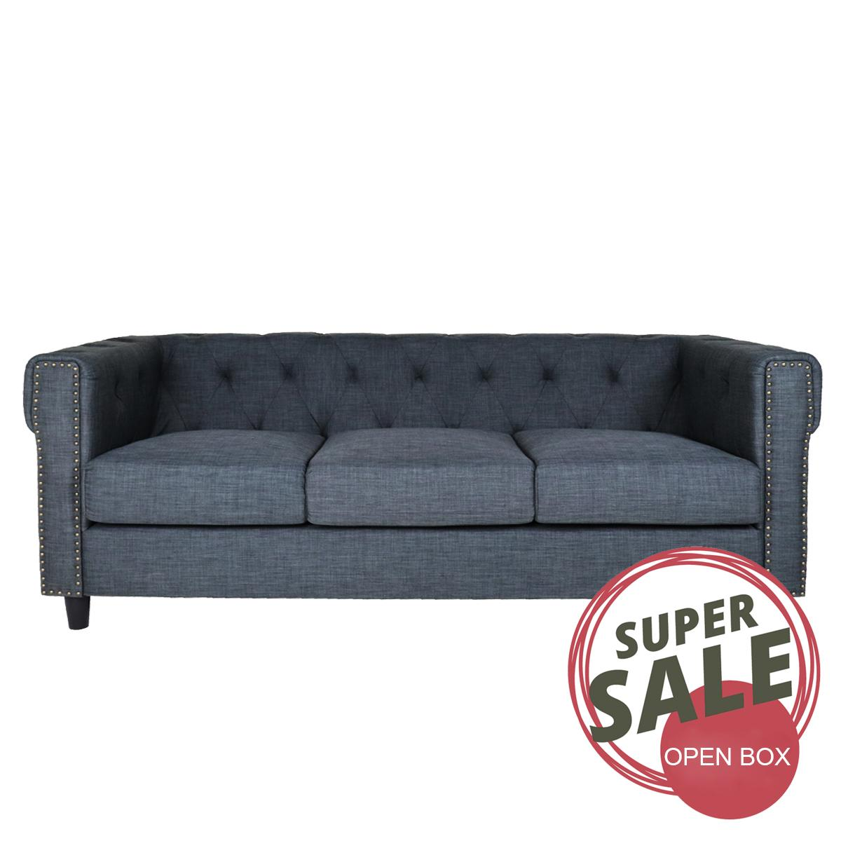3 Seater Luxury Fabric Sofa. Open Box Sale by H&S