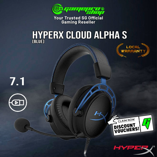 HyperX Cloud Alpha S Gaming Headset (Blue) - HX-HSCAS-Bl/WW (2Y)