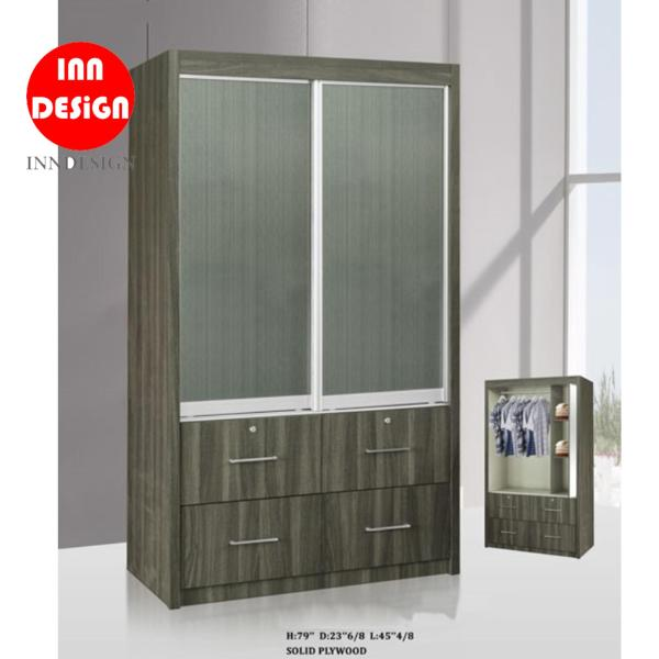 Haster Solid Plywood Sliding Wardrobe (Free Delivery and Installation)