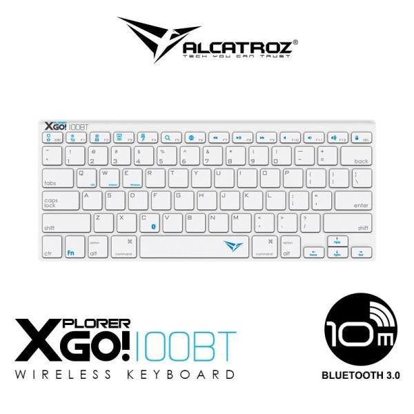 Alcatroz Xplorer Go! BT 100 Ultra-Slim Portable Wireless Keyboard – Black/ White Singapore