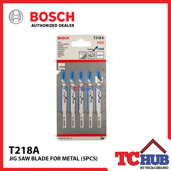 Bosch T218A Metal Jig Saw Blade (5PCS)