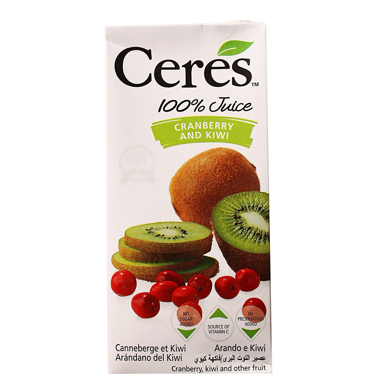 Ceres 100% Juice Blend Packet Drink - Cranberry and Kiwi