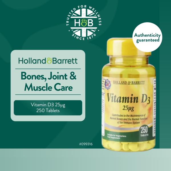 Buy Holland & Barrett Vitamin D3 250 Tablets 25µg Singapore