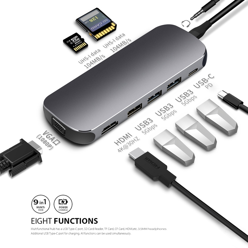 2020 Paragraph Suitable for Apple Laptop USB Converter MacBook Docking Station Pro Computer Air Connector Typec TUOZHAN the HDMI Accessories iPad Cable 3.0 line Port Mac