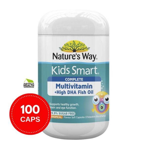 Buy Natures Way Kids Smart Complete Multi Vitamin & Fish Oil 100 Capsules November 2021 Singapore