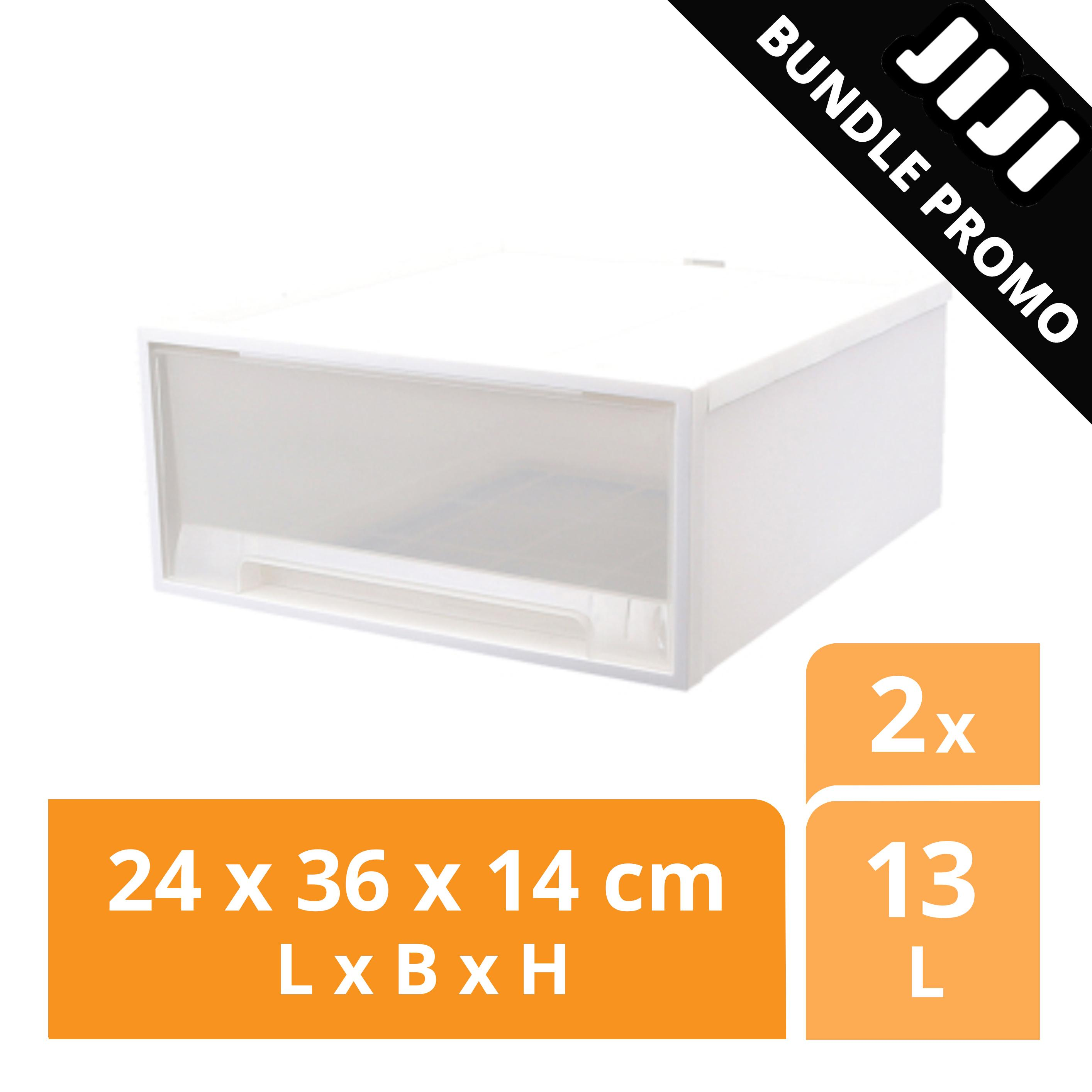 JIJI Bundle Promo of 2: SAMLA Chest Drawer / 13L / 36L / Storage Box / Container / Stackable / Bundle Set / FREE DELIVERY (SG)
