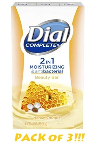 Buy Dial Complete 2 in 1 Moisturizing & Antibacterial Beauty Bar, Manuka Honey, 3.8 Ounce, (Pack of 3) Singapore