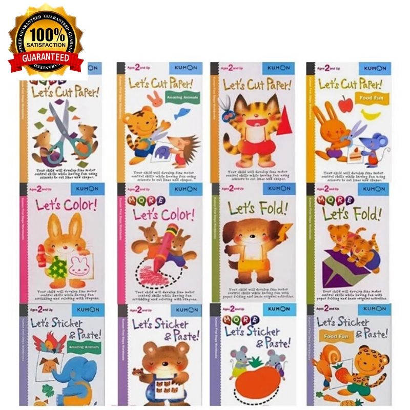 [SG] Kumon First Step Activity Book Workbooks 12 Books Set