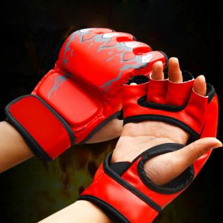 Hàng Có Sẵn bao Cát Đấm Bốc MMA Cho Người Lớn, Găng Tay Nửa Ngón Giả Da Luyện Tập Chiến Đấu thumbnail