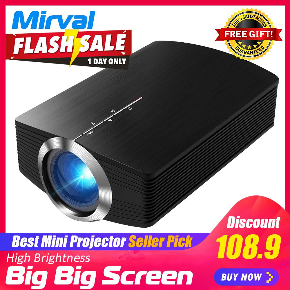 Mirval YG500 New Arrival Smart Electronics 1080P HD LCD+LED Optical engine  Video Projector Multimedia Home Theater Cinema