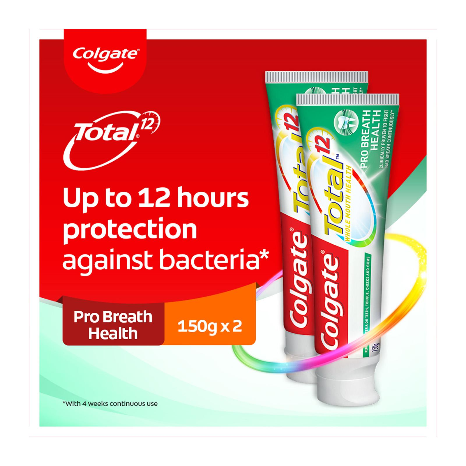 Colgate Total Professional Breath Health Antibacterial Toothpaste Valuepack 150g x 2