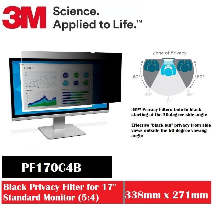 3M Black Privacy Filter For 17.0 Desktop  PF170C4B